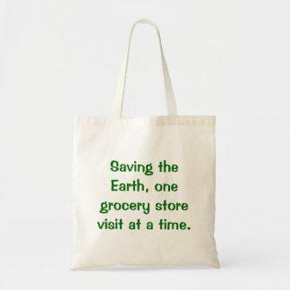 Ahorrando el mundo bolso de ultramarinos bolsa de mano