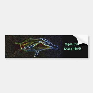 Ahorre a la pegatina para el parachoques del delfí pegatina para coche