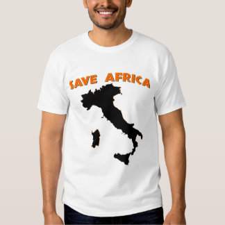 Ahorre África Camisetas