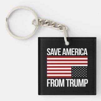 Ahorre América del triunfo -- blanco - Llavero Cuadrado Acrílico A Una Cara