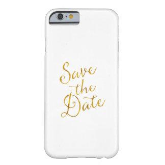 Ahorre compromiso de la hoja del oro de la cita de funda de iPhone 6 barely there