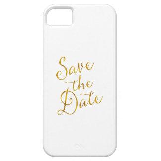 Ahorre compromiso de la hoja del oro de la cita de iPhone 5 Case-Mate fundas