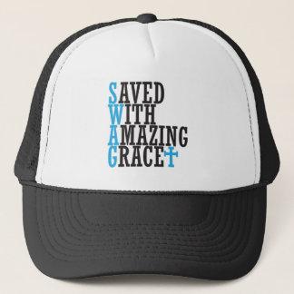 Ahorre con el gorra cruzado cristiano del SWAG