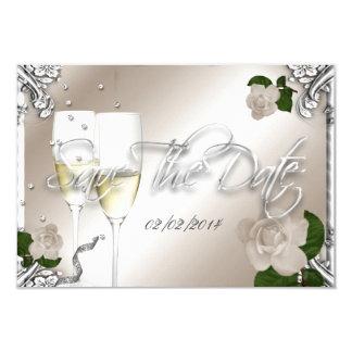 Ahorre el 25to boda del aniversario de la fecha invitación 8,9 x 12,7 cm