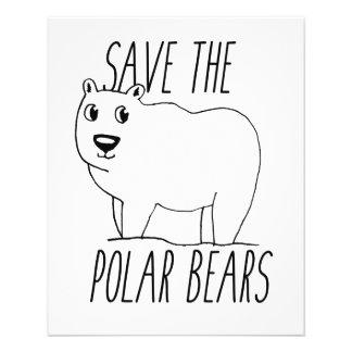 Ahorre el aviador de los osos polares folleto 11,4 x 14,2 cm