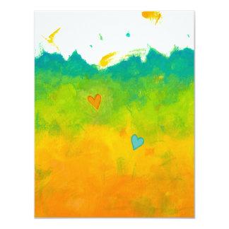 Ahorre el boda caprichoso del arte del amor del invitación 10,8 x 13,9 cm
