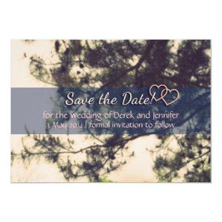 Ahorre el boda de la fecha - árbol y las ramas del invitación 12,7 x 17,8 cm