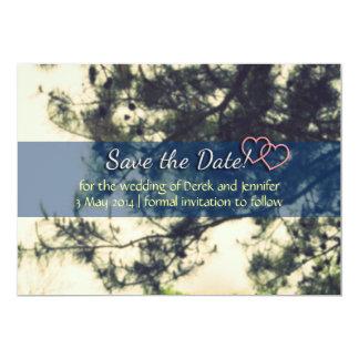 Ahorre el boda de la fecha - árbol y las ramas del comunicado personalizado