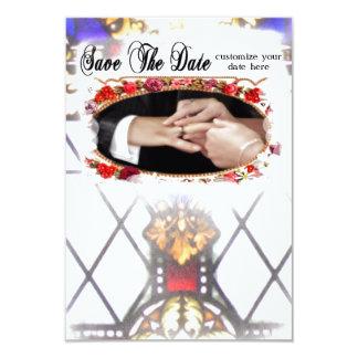 Ahorre el boda de la iglesia de la fecha invitación 8,9 x 12,7 cm