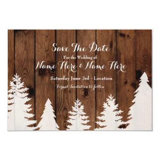 Ahorre el boda del invierno de la fecha que invitación 8,9 x 12,7 cm
