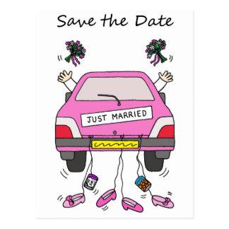 Ahorre el boda lesbiano de la fecha/la tarjeta de