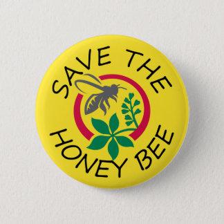 Ahorre el botón de la abeja de la miel