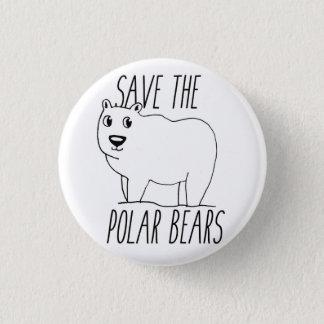 Ahorre el botón de los osos polares