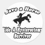Ahorre el caballo, superviviente de la etiquetas redondas