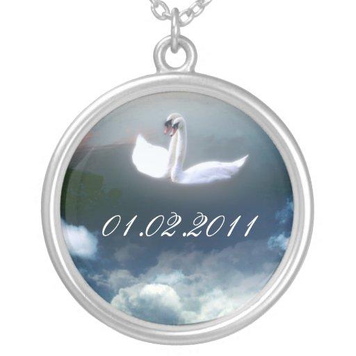 Ahorre el collar pendiente del arte de la fecha, c