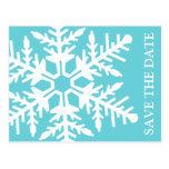 Ahorre el copo de nieve enorme de la fecha (trullo postales