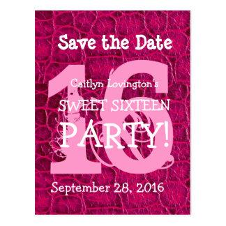 Ahorre el cumpleaños rosado V10 del cocodrilo del  Postal