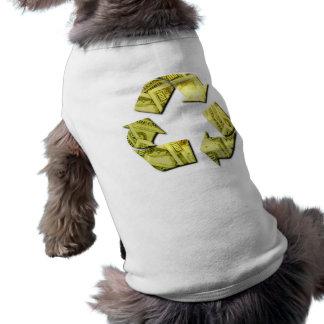 Ahorre el dinero reciclan la camisa del mascota camisetas de perro