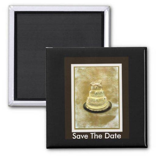 Ahorre el imán del boda de la fecha
