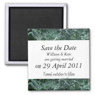 Ahorre el imán del mármol del verde de la fecha