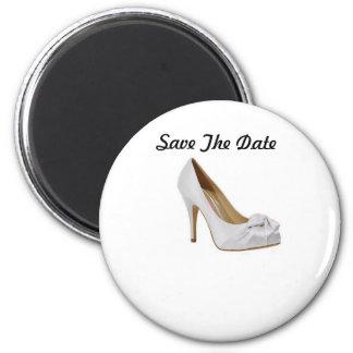 Ahorre el imán del zapato del boda de la fecha