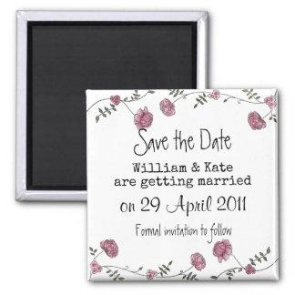 Ahorre el imán floral de la fecha