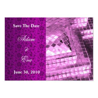 Ahorre el mosaico violeta de la piedra preciosa de invitación 12,7 x 17,8 cm