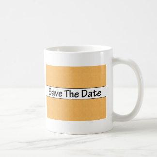 Ahorre el naranja de la fecha tazas de café