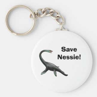 ¡Ahorre el Nessie! Llavero Redondo Tipo Chapa