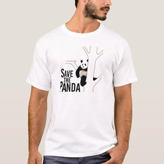 Ahorre el oso de panda camiseta