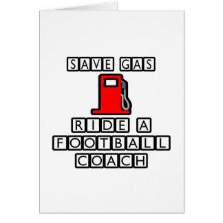 Ahorre el paseo del gas… un entrenador de fútbol tarjeta