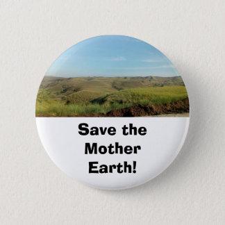 Ahorre el Pin del botón de la tierra