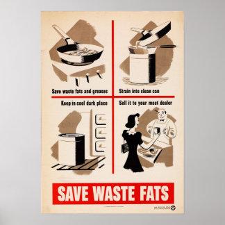 Ahorre el poster inútil de las grasas