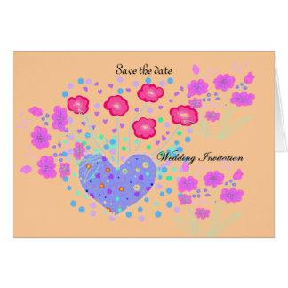 Ahorre el rsvp del boda de la fecha tarjeta de felicitación