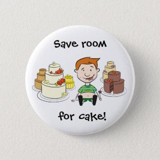Ahorre el sitio para el botón de la torta
