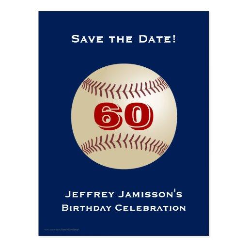 Ahorre la 60.a postal del béisbol del cumpleaños d