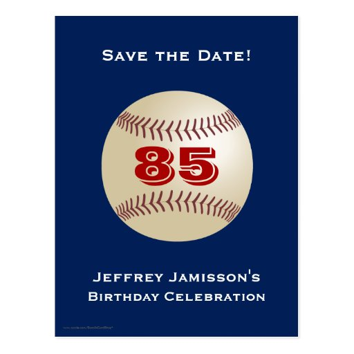 Ahorre la 85a postal del béisbol del cumpleaños de