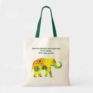 Ahorre la bolsa de asas de los elefantes