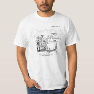 Ahorre la camiseta de los hombres del saco de