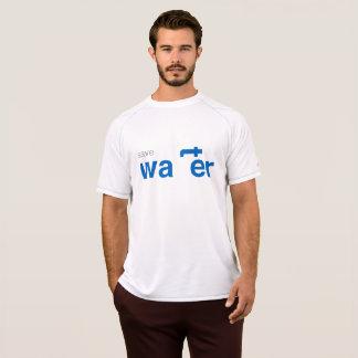 ahorre la camiseta del blanco del agua