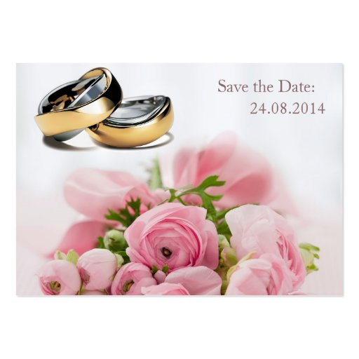 Ahorre la fecha, anillos de bodas - tarjeta de vis tarjeta de visita