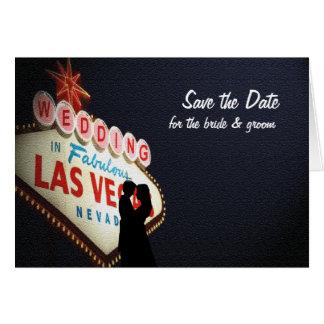 """Ahorre la fecha """"boda"""" en la tarjeta de Las Vegas"""