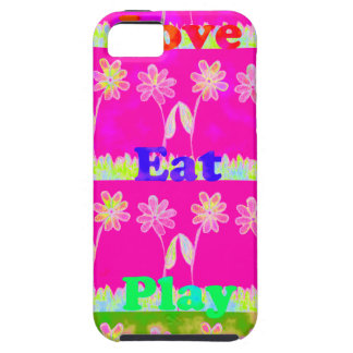 Ahorre la fecha comen amor y PLay.png iPhone 5 Case-Mate Cárcasa