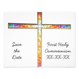 Ahorre la fecha - comunión - invitación