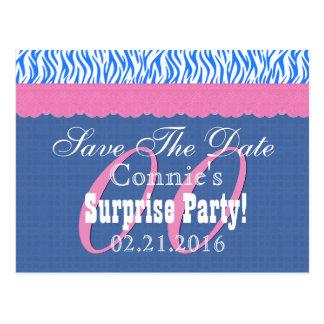 Ahorre la fecha cualquier cumpleaños S12 azul de Postales
