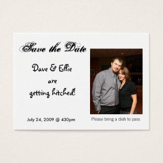 Ahorre la fecha, Dave y Ellie es g… Tarjeta De Visita