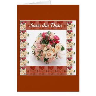 Ahorre la fecha floral tarjeta de felicitación