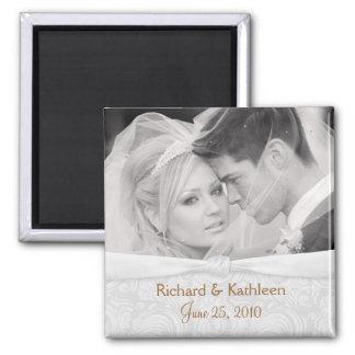 Ahorre la fecha - foto Blanco-en-Blanca del boda Imanes