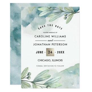 Ahorre la fecha. Invitación botánica del boda