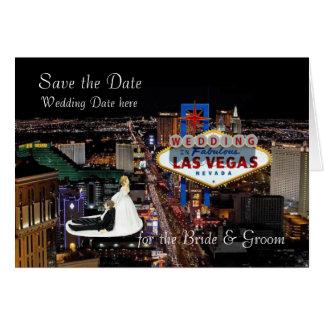 Ahorre la fecha para el boda de la novia y del tarjeta de felicitación